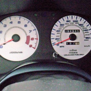 Reverse Indiglo Turbo 2G Gauges